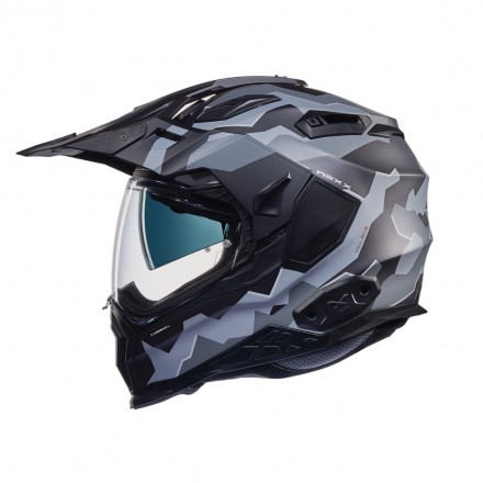 Casco integrale touring adventure Nexx X.Wed 2 Hill End nero grigio opaco black grey mat helmet casque