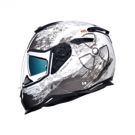 Casco integrale Nexx SX.100 Toxic bianco white helmet casque