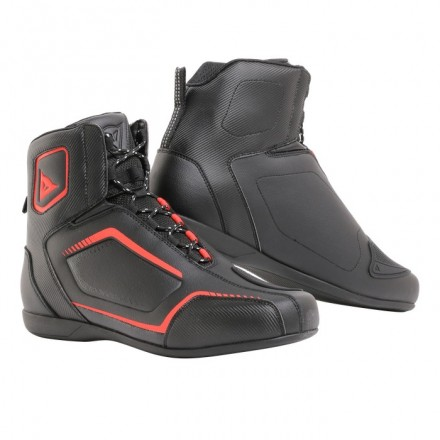 Scarpe moto Dainese Raptors black red nero rosso shoes