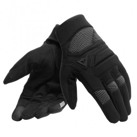 Guanti moto traforati estivi Dainese Fogal nero antracite black perforated summer gloves