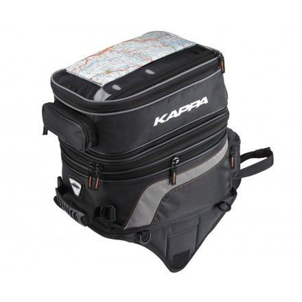 Borsello serbatoio con magneti calamitata moto estensibile 30-40 litri Kappa LH201 tankbag