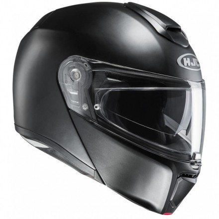 Casco modulare apribile fibra moto Hjc Rpha 90 nero opaco semi flat black flip up Helmet casque