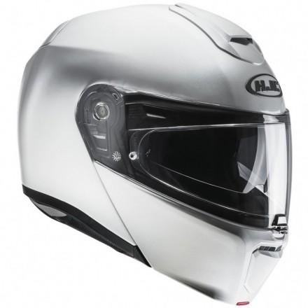 Casco modulare apribile fibra moto Hjc Rpha 90 Bianco perla pearl white flip up Helmet