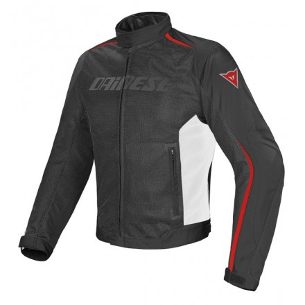 Giacca moto estiva traforata impermeabile Dainese Hydra Flux dry Black white Red Waterproof jacket
