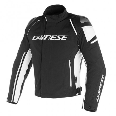 Giacca sportiva moto impermeabile sfoderabile Dainese Racing 3 d-dry nero bianco black white waterproof jacket