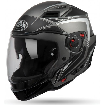 Casco jet integrale modulare crossover Airoh Executive Line Anthracite Matt antracite opaco nero black helmet casque