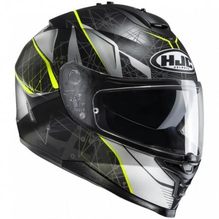 Casco Integrale moto Hjc Is-17 Daugava Mc4hsf nero giallo black yellow helmet casque