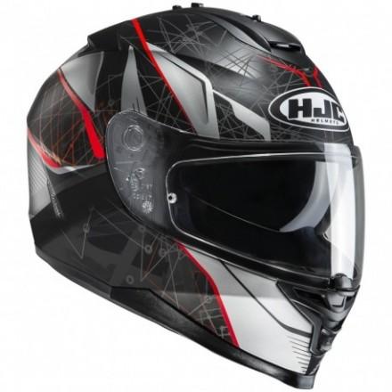 Casco Integrale moto Hjc Is-17 Daugava Mc1 nero bianco rosso black white red helmet casque