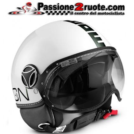 Casco jet Momo Design Fgtr Classic bianco lucido nero white black helmet casque