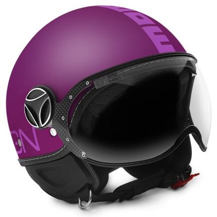 Casco jet Momo Design Fgtr Classic viola opaco rosa violet matt pink helmet casque