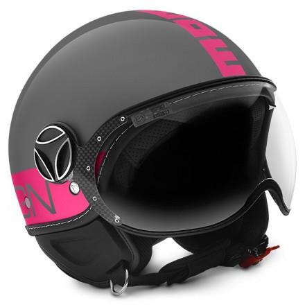 Casco jet Momo Design Fgtr Fluo Grigio lucido Fucsia Glossy Grey Fuxia helmet casque