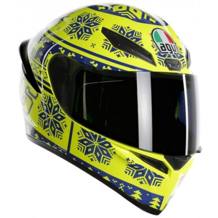 Casco integrale moto Agv K-1 Valentino Rossi Winter Test 2015 helmet