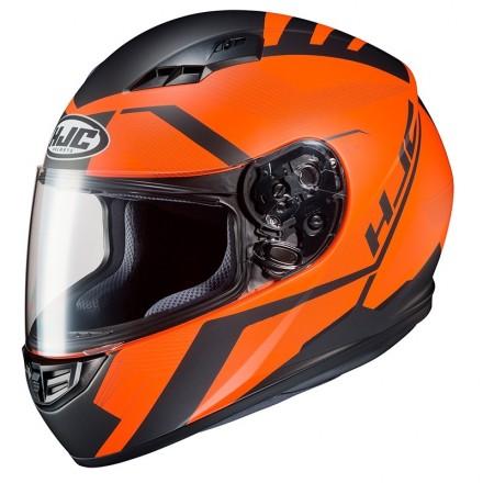 Casco Integrale moto Hjc Cs-15 Faren Mc7SF nero opaco arancione black matt orange helmet casque