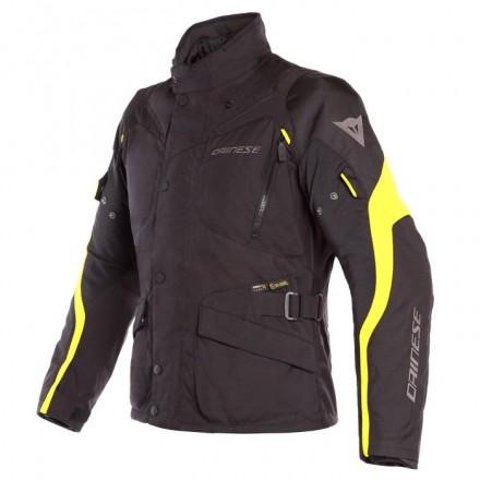 Giacca moto touring 4 stagioni Dainese Tempest 2 D-dry nero giallo black yellow fluo jacket