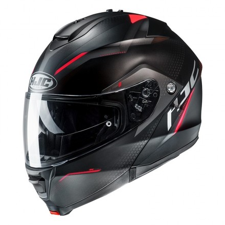 Casco modulare apribile Hjc Is-Max 2 Dova Mc2sf nero rosso black red mc1 flip up helmet casque