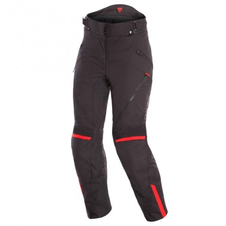 Pantaloni donna moto impermeabile Dainese Tempest 2 Lady D-dry nero rosso black tour red waterproof woman pants
