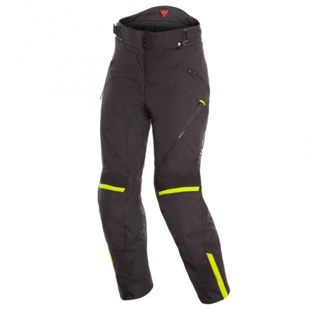 Pantaloni donna moto impermeabile Dainese Tempest 2 Lady D-dry nero giallo black fluo yellow waterproof woman pants