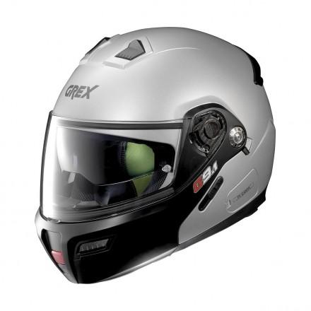 Casco modulare apribile moto Grex G9.1 Evolve Couple grigio argento opaco flat silver 26 flip up helmet casque