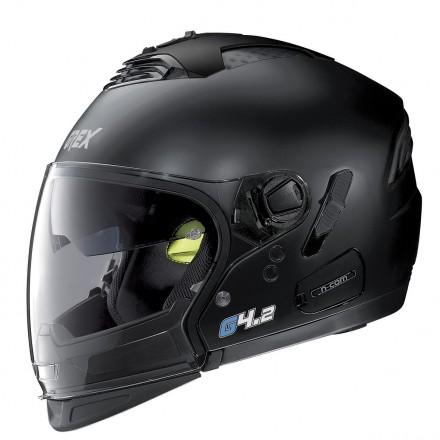 Casco crossover modulare jet integrale moto Grex G4.2 Pro Kinetic nero opaco flat black helmet casque