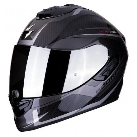 Casco integrale carbonio moto Scorpion Exo 1400 Carbon Esprit argento silver helmet casque