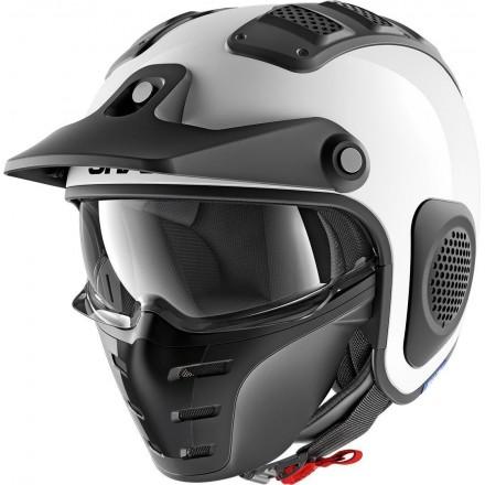 Casco moto vintage scrambler cafe racer naked custom Shark X-Drak bianco white helmet casque