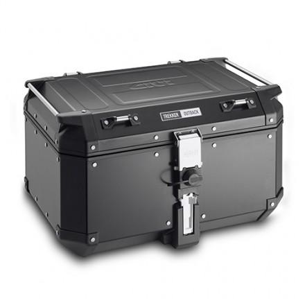 Top Case Valigia Bauletto posteriore alluminio nero Givi Trekker Outback 58 lt OBKN58B