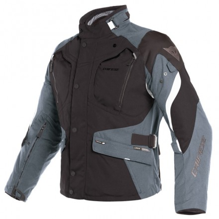 Giacca moto touring adventure 4 stagioni Dainese Dolomiti Goretex Black ebony light grey 4 seasons jacket