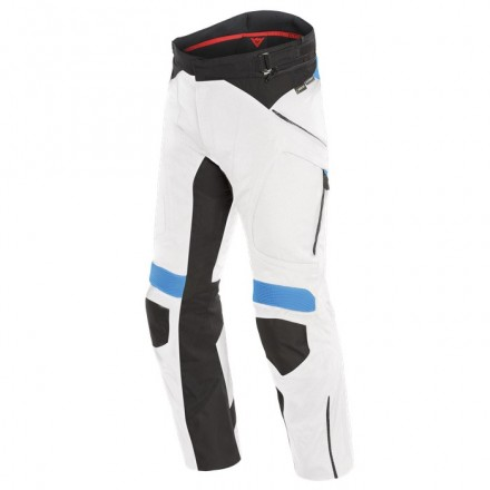 Pantaloni moto touring adventure 4 stagioni Dainese Dolomiti Goretex light gray black electron blue 4 seasons trousers pants