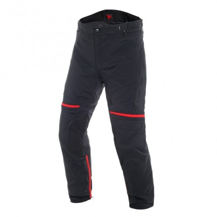 Pantaloni moto touring Dainese Carve Master 2 Goretex nero rosso black forest grey red trousers pants
