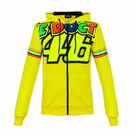 Felpa Vr46 Valentino Rossi The Doctor 46 VRMFL305301 giallo yellow hoodie sweatshirt
