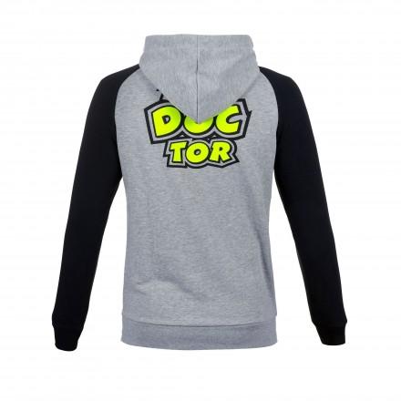Felpa Vr46 Valentino Rossi moto gp The Doctor 46 Dottorino VRMFL306705 nero grigio black grey hoodie sweatshirt