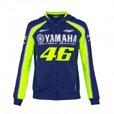Felpa blu Vr46 Valentino Rossi Yamaha moto gp hoodie sweatshirt