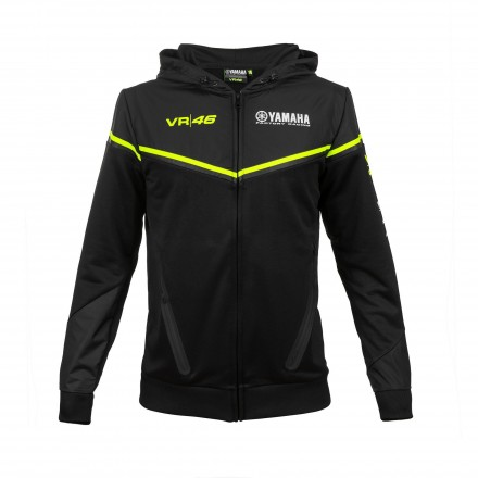 Felpa nero Vr46 Valentino Rossi Yamaha black moto gp hoodie sweatshirt