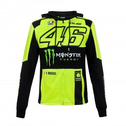 Felpa nero Vr46 Valentino Rossi Monza Monster Energy black moto gp hoodie sweatshirt