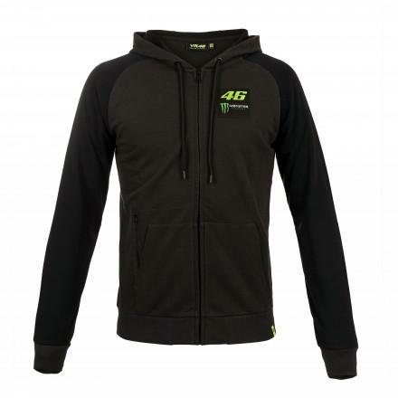 Felpa nero Vr46 Valentino Rossi Monster Energy antracite grey moto gp hoodie sweatshirt MOMFL316920