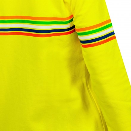 Felpa donna Vr46 Valentino Rossi The Doctor 46 VRWFL307201 giallo yellow lady woman hoodie sweatshirt