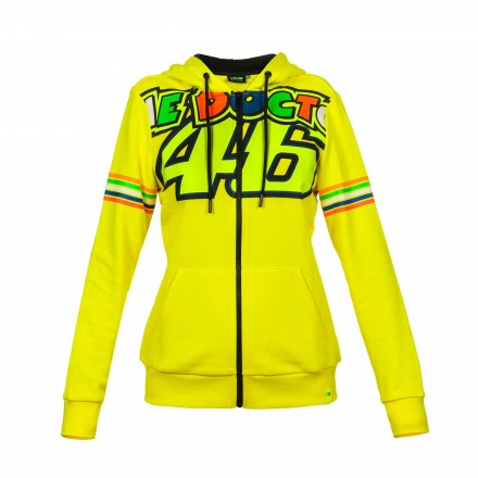 Felpa donna Vr46 Valentino Rossi The Doctor 46 VRWFL307201 giallo yellow lady woman hoodie sweatshirt