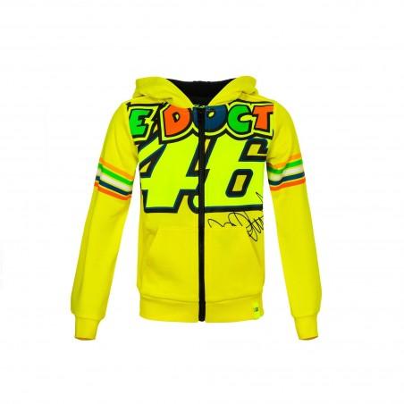 Felpa bimbo bambino Vr46 Valentino Rossi The Doctor 46 VRKFL308001 giallo yellow kid junior hoodie sweatshirt