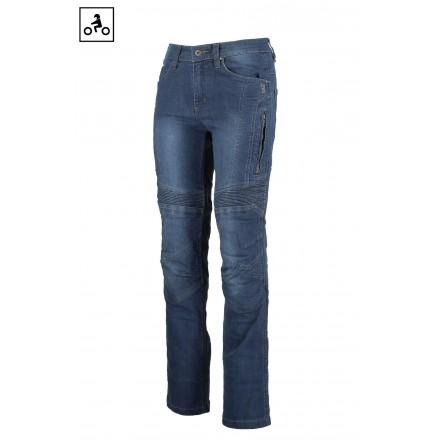 Jeans omologati donna moto con protezioni Oj Upgrade lady woman blu