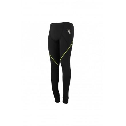 Pantalone termico in poliestere con cuciture piatte e inserti fluo Oj Thermal pant