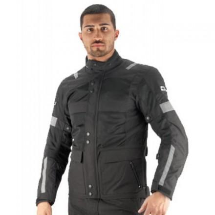 Giacca moto adventure touring traforata impermeabile Oj Revenge nero black perforated waterproof Jacket