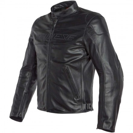 Giacca pelle moto Dainese Bardo nero black leather jacket
