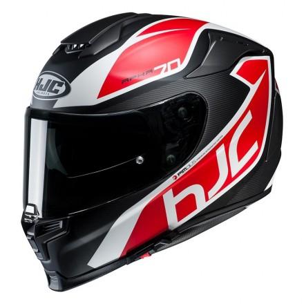 Casco Integrale moto fibra Hjc Rpha 70 Pinot nero rosso black red Mc1sf Helmet casque