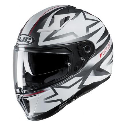 Casco integrale moto doppia visiera Hjc i70 Cravia MC10sf bianco nero white black Helmet casque