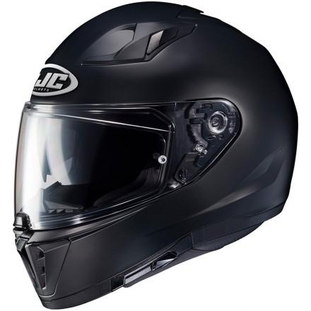Casco integrale moto doppia visiera Hjc i70 nero opaco matt black Helmet casque