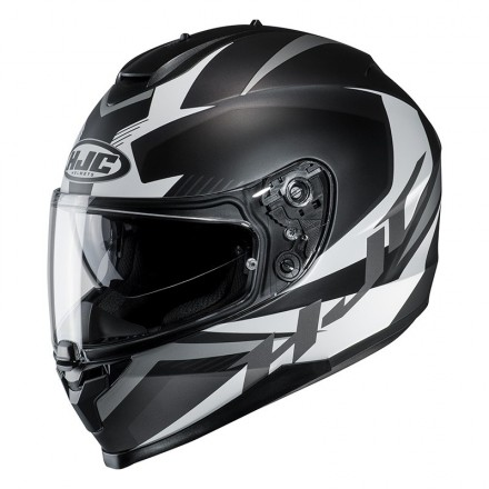 Casco integrale moto doppia visiera Hjc C70 Troky Mc5sf nero black Helmet casque
