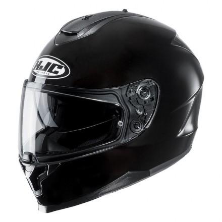 Casco integrale moto doppia visiera Hjc C70 nero lucido black Helmet casque
