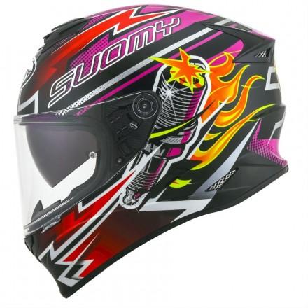 Casco integrale moto Suomy Stellar Boost Fuxia helmet casque