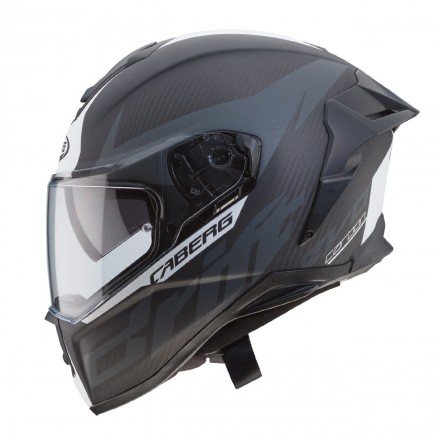 Casco integrale carbonio moto Caberg Drift Evo Carbon antracite bianco matt white helmet casque