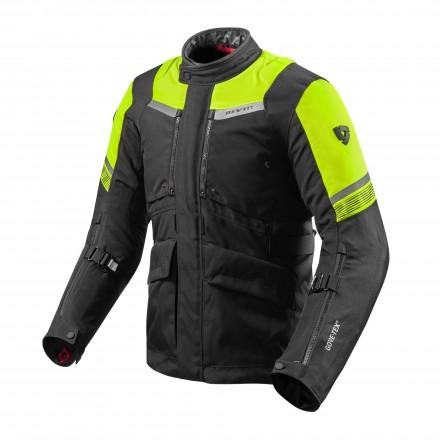 Giacca moto touring triplo strato Rev'it Neptune 2 Goretex GTX Nero giallo black yellow 3 layers jacket